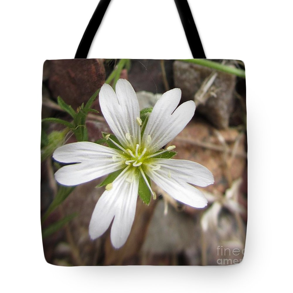 White Tote Bag featuring the photograph A Splash Of White by Martin Howard