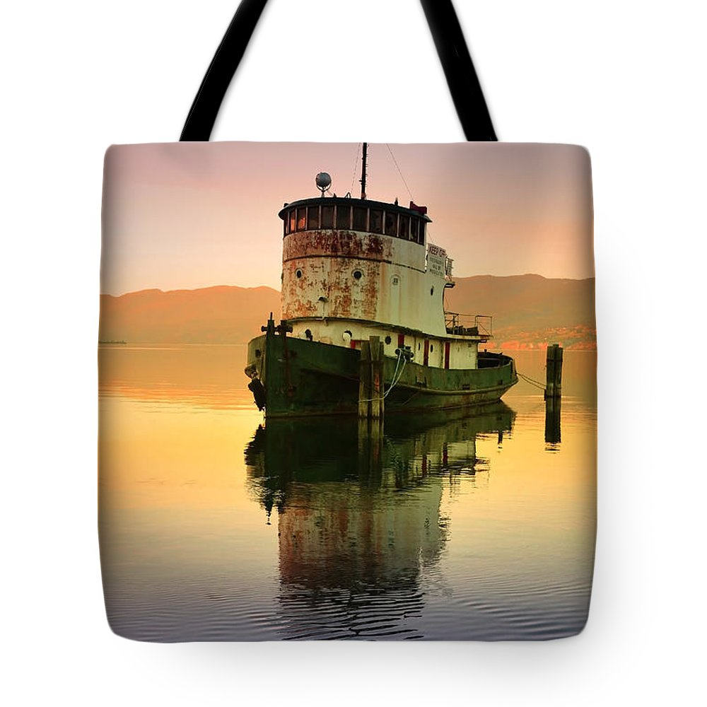 May Tote Bag featuring the photograph A Spring Evening At The Lake by Tara Turner