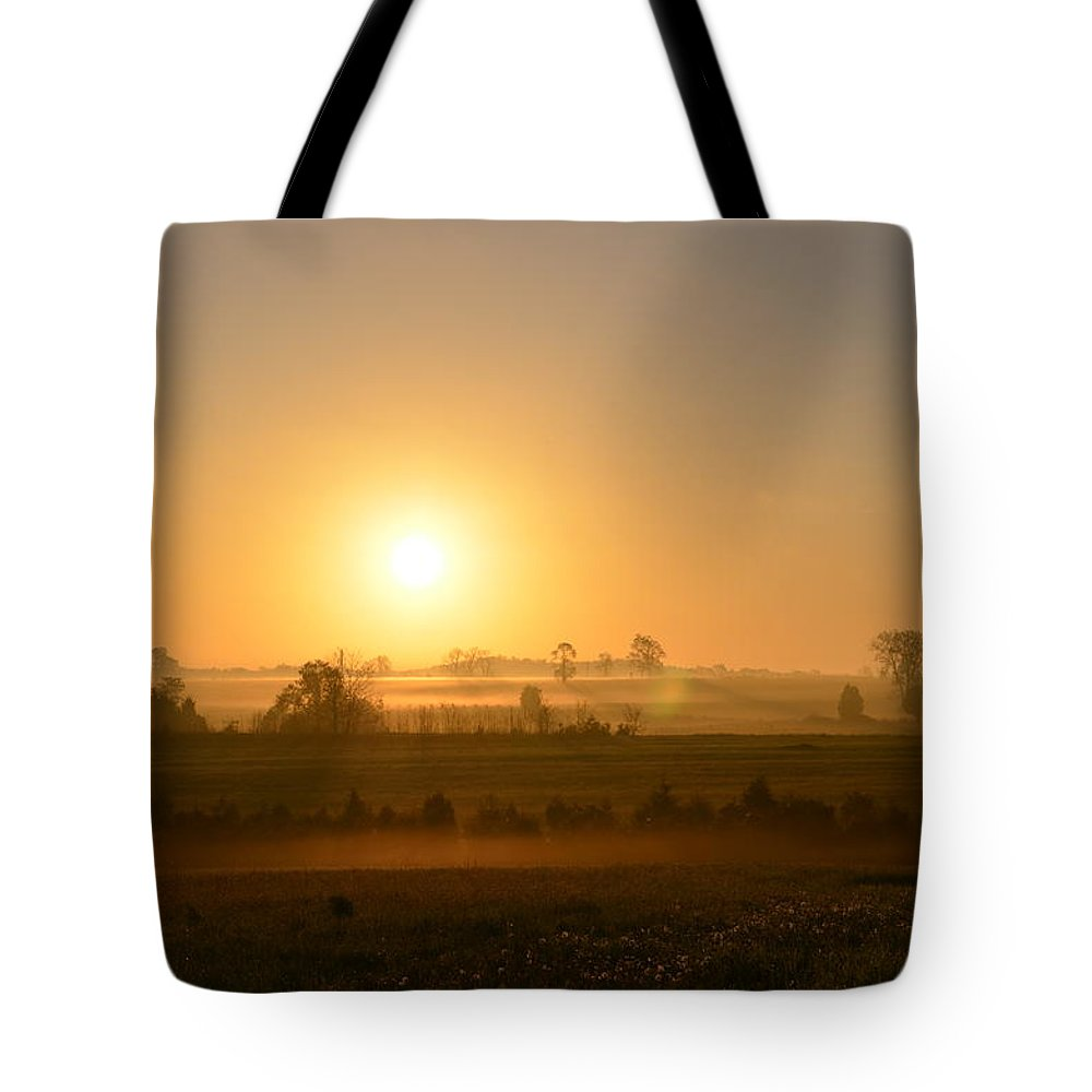 Spring Tote Bag featuring the photograph A Spring Morning At Gettysburg by Bill Cannon