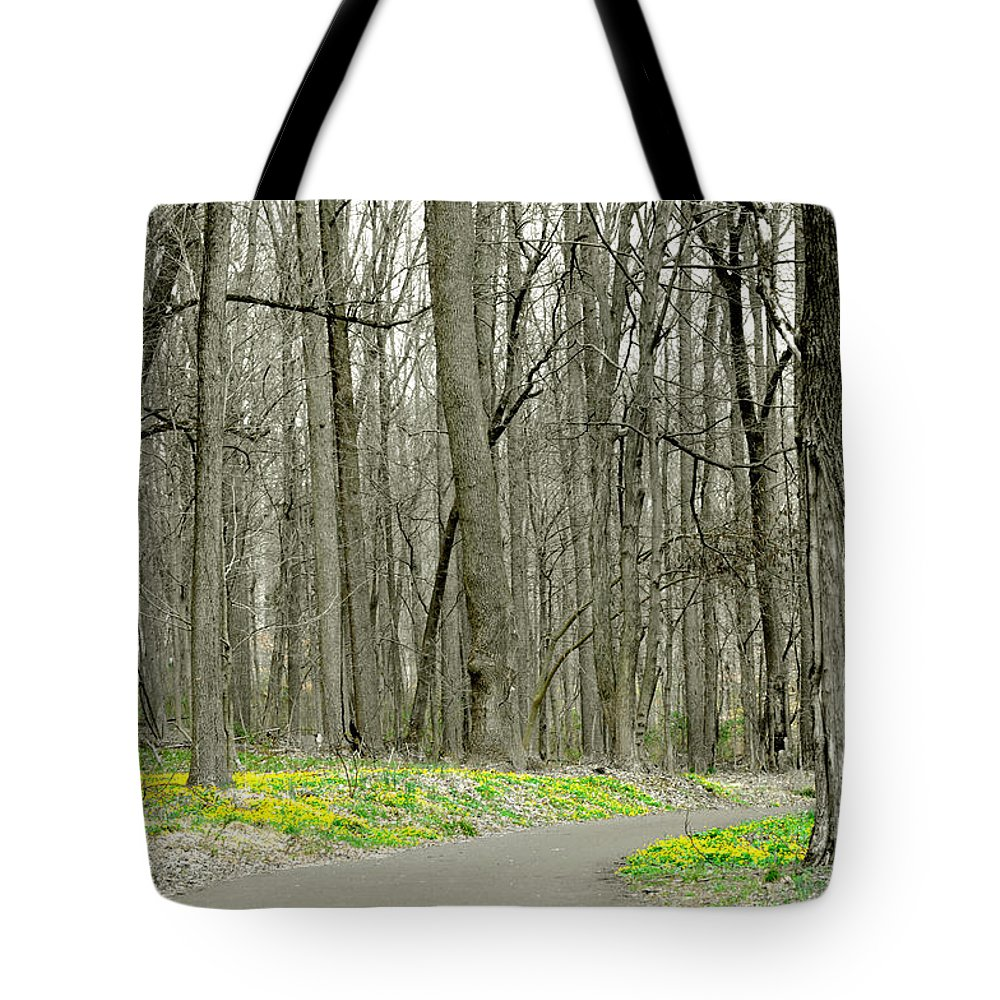 Flowers Tote Bag featuring the photograph A Stroll Through Peace Valley by Cindy Roesinger
