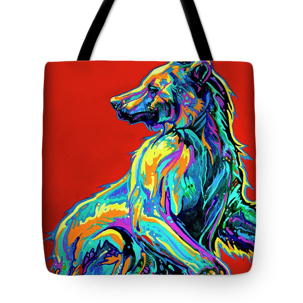 Bear Paintings Tote Bag featuring the painting A Taste Of Honey by Derrick Higgins