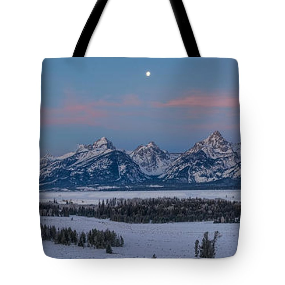 Sunrise Tote Bag featuring the photograph A Tetons Dawn by Ken Curtis