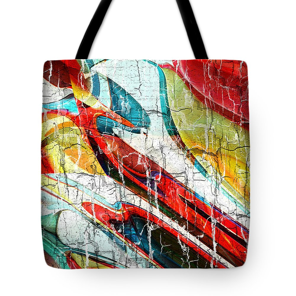 Hotel Art Tote Bag featuring the digital art A Textured Testimony by Margie Chapman