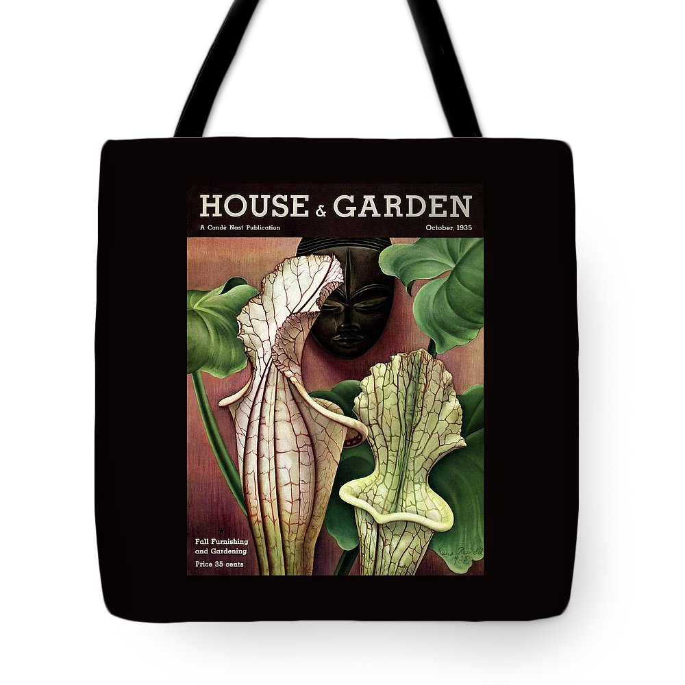 2eb1582dbb A Tropical Flower And An African Mask Tote Bag for Sale by Edna Reindel