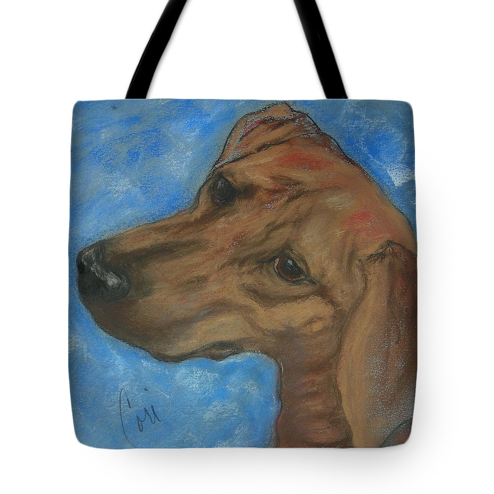 Pastel Tote Bag featuring the drawing A Twist Of Might by Cori Solomon