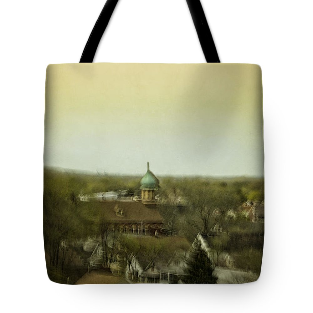 Aerial Tote Bag featuring the photograph A View From Above by Margie Hurwich