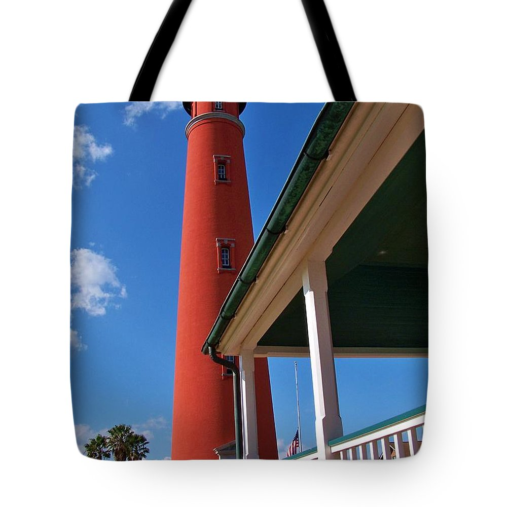 Light Tote Bag featuring the photograph A View From The Porch by Chuck Hicks