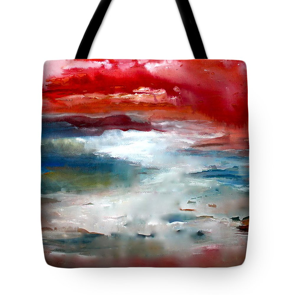 Water Tote Bag featuring the painting A Walk On Kauai by Nancy Gebhardt