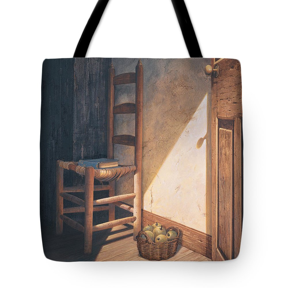 Country Tote Bag featuring the painting A Warm Welcome by Michael Humphries