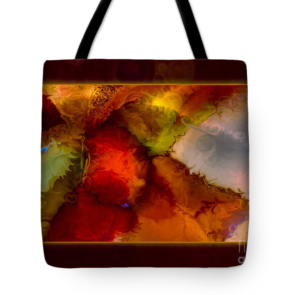 12.11 Tote Bag featuring the painting A Warrior Spirit Abstract Healing Art by Omaste Witkowski