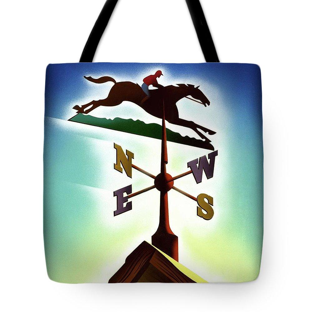 Decorative Art Tote Bag featuring the digital art A Weather Vane by Joseph Binder