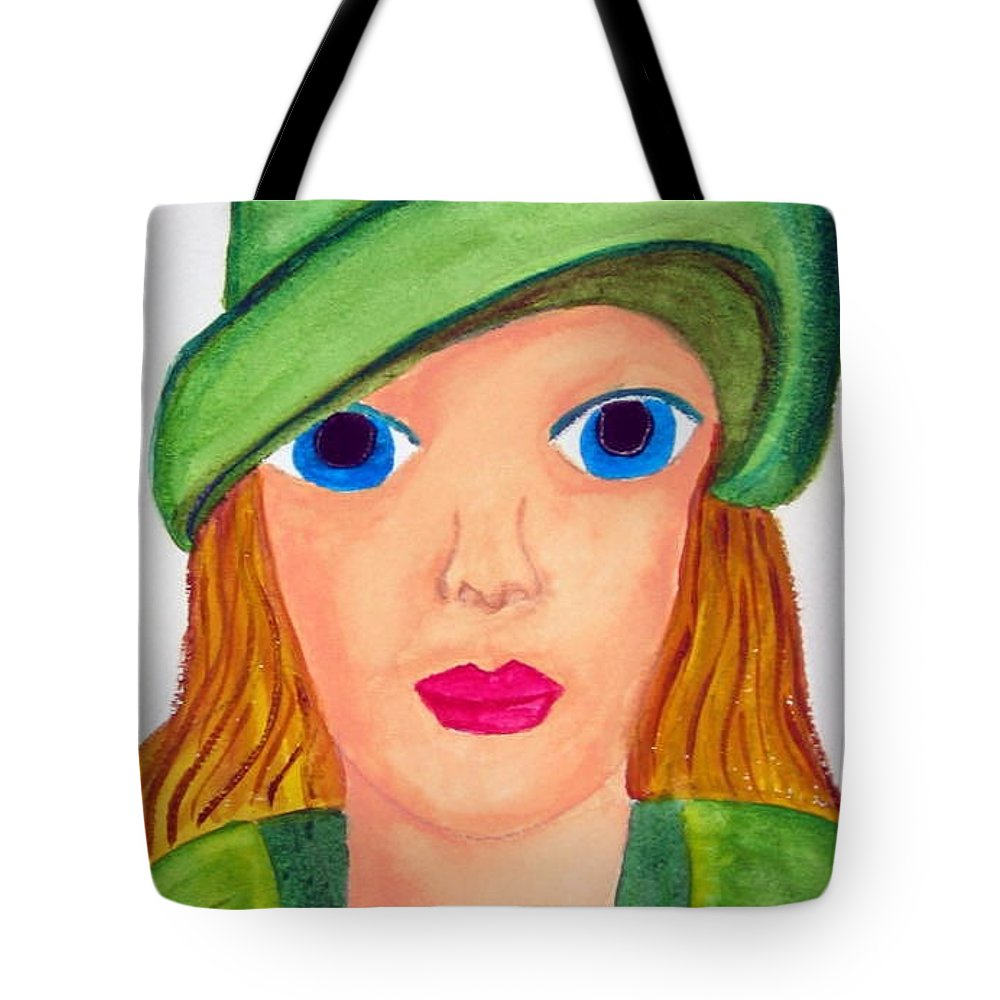 Irish Tote Bag featuring the painting A Wee Bit Of Irish by Judy Gerstner