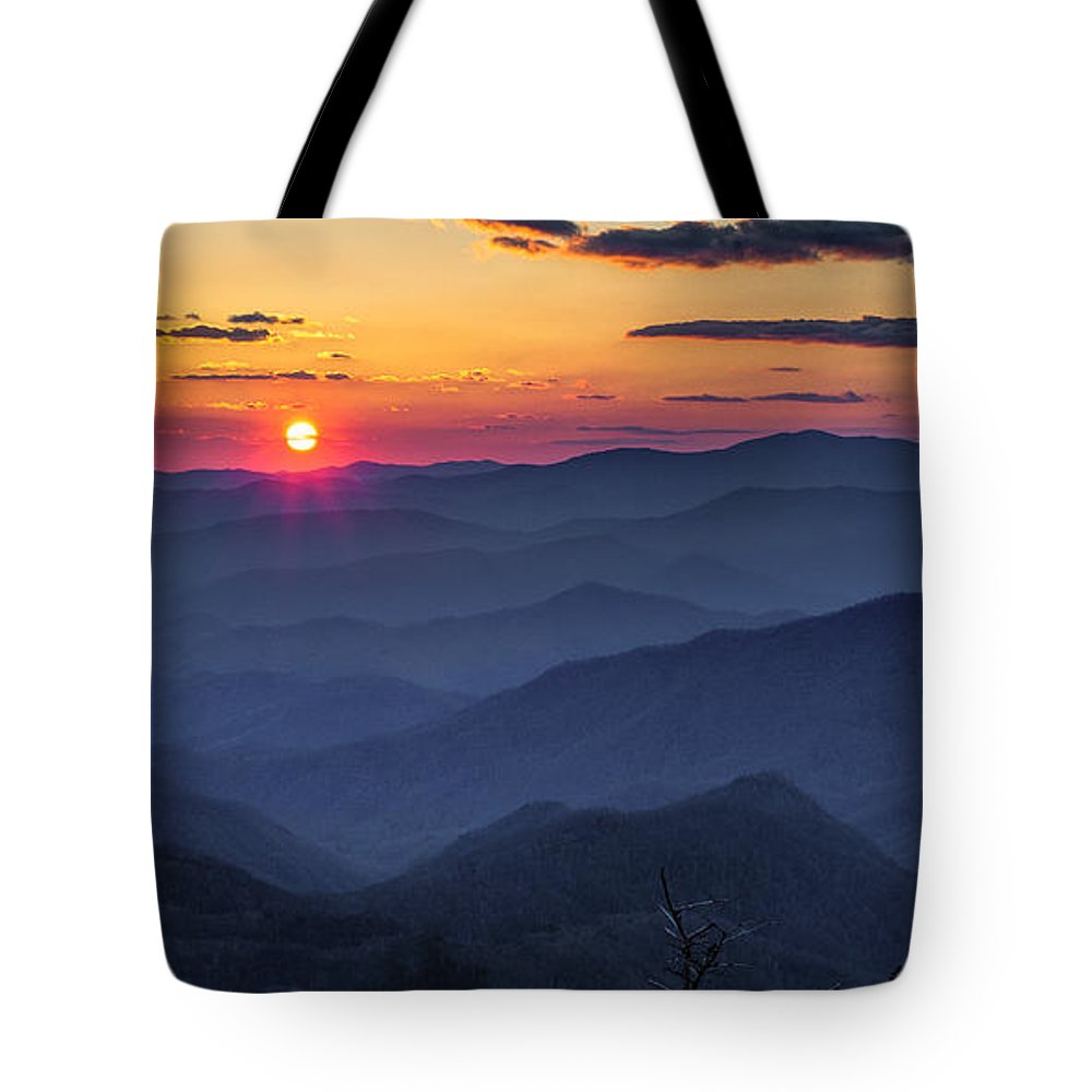 Blue Ridge Parkway Tote Bag featuring the photograph A Welcoming Back by Christopher Mobley