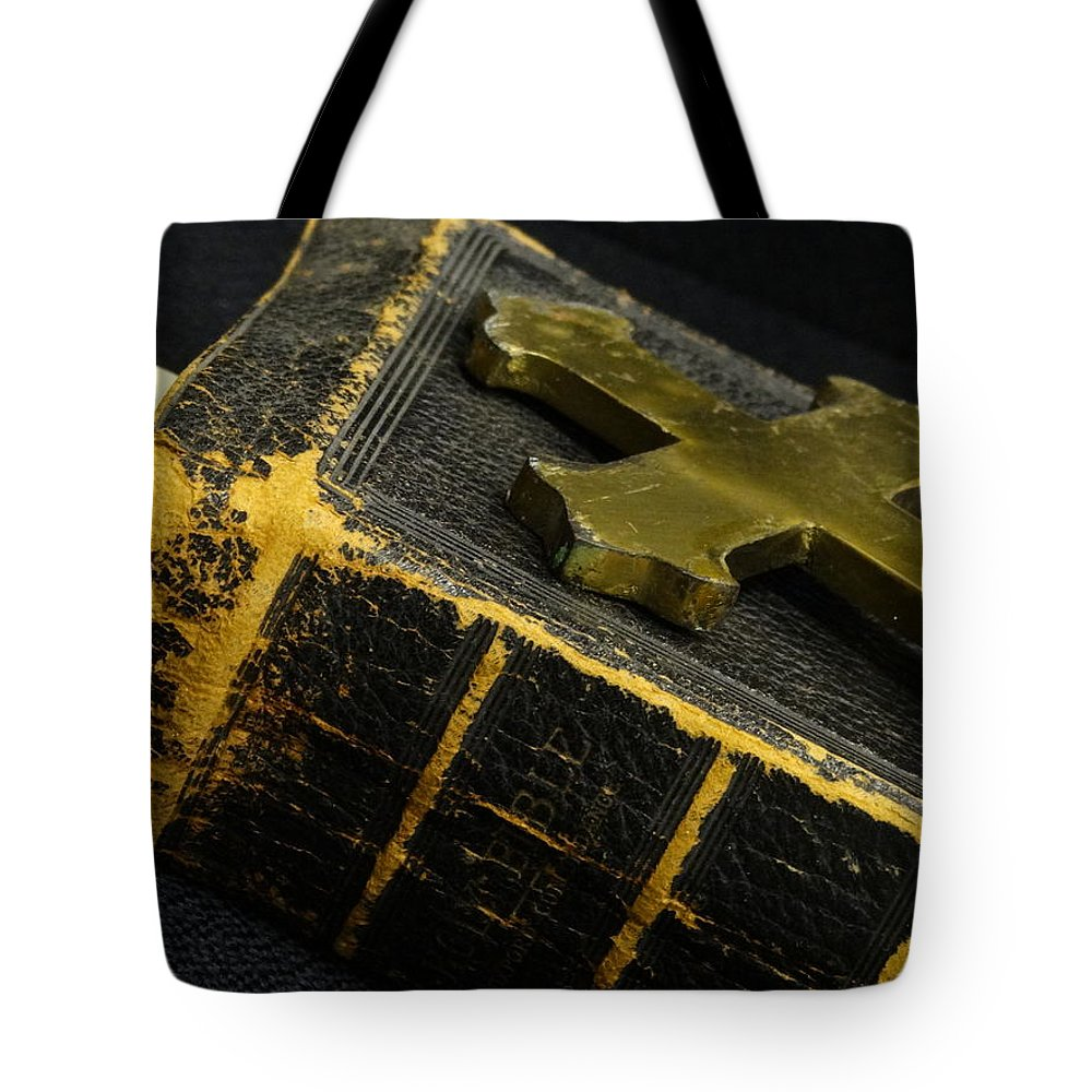 Bible Tote Bag featuring the photograph A Well-worn Faith by David T Wilkinson