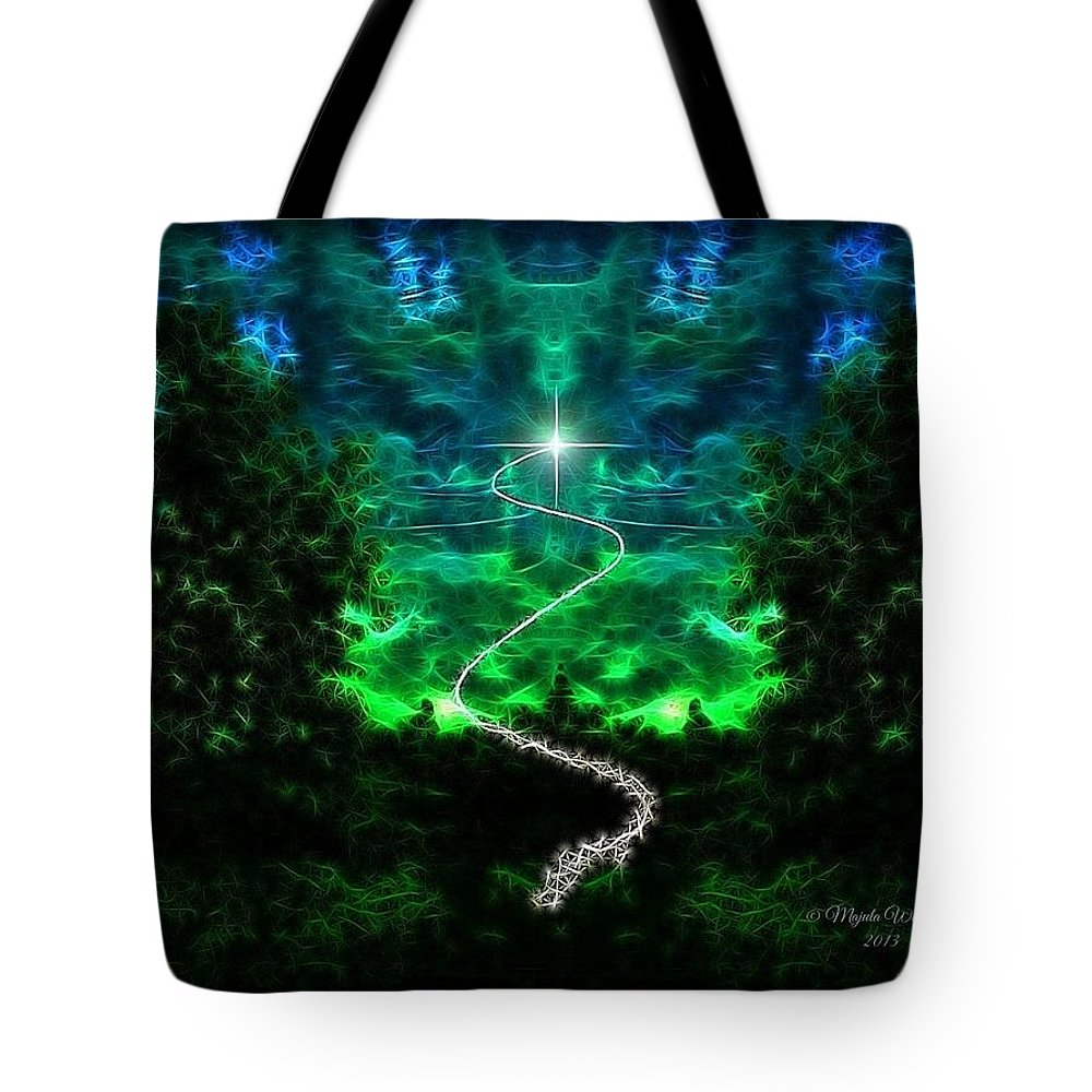 Forest Tote Bag featuring the photograph A Whimsical Forest by Majula Warmoth