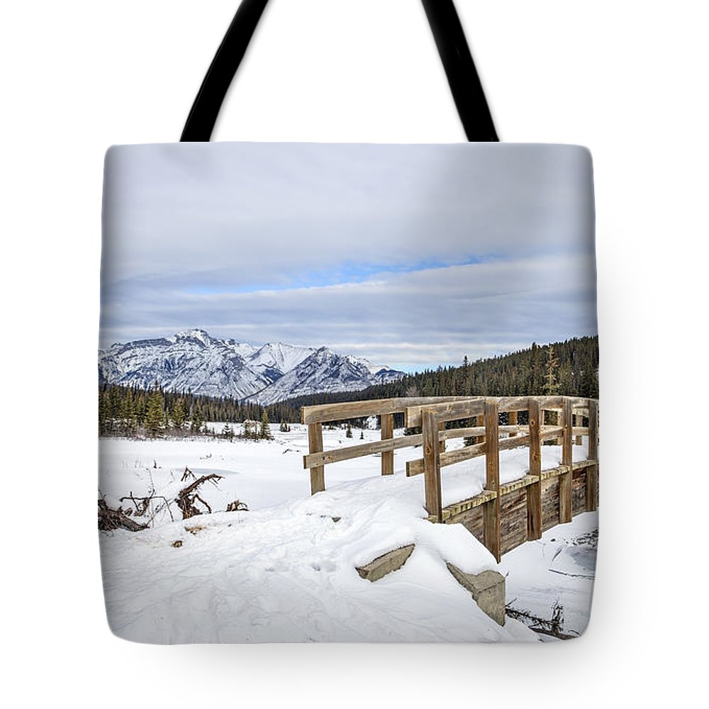 Banff Tote Bag featuring the photograph A Winter's Tale by Evelina Kremsdorf