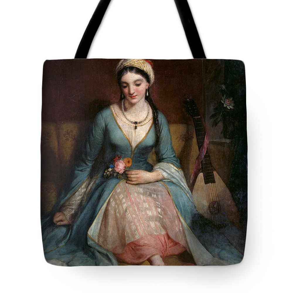 Henry W Pickersgill Tote Bag featuring the painting A Young Greek Woman by Henry W Pickersgill