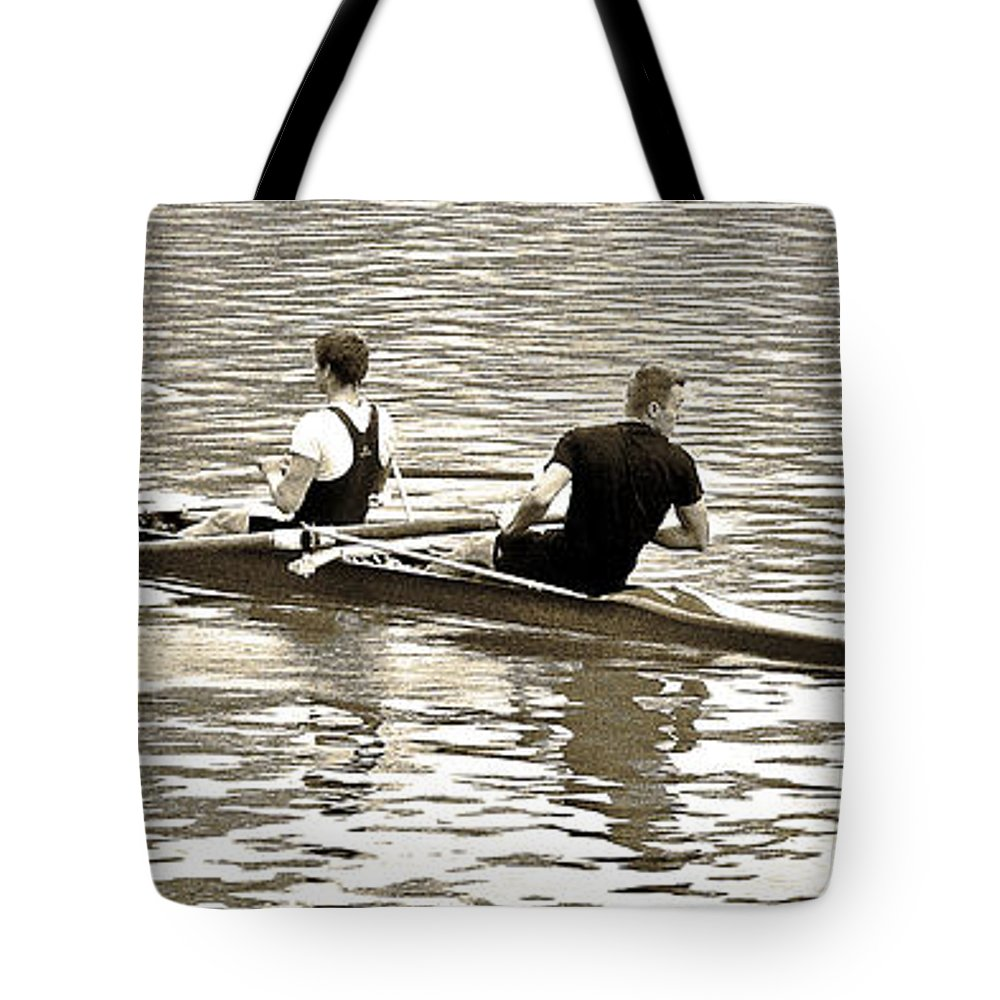 Digital Abstract Photography Tote Bag featuring the photograph A2230006 Regatta by David Fabian