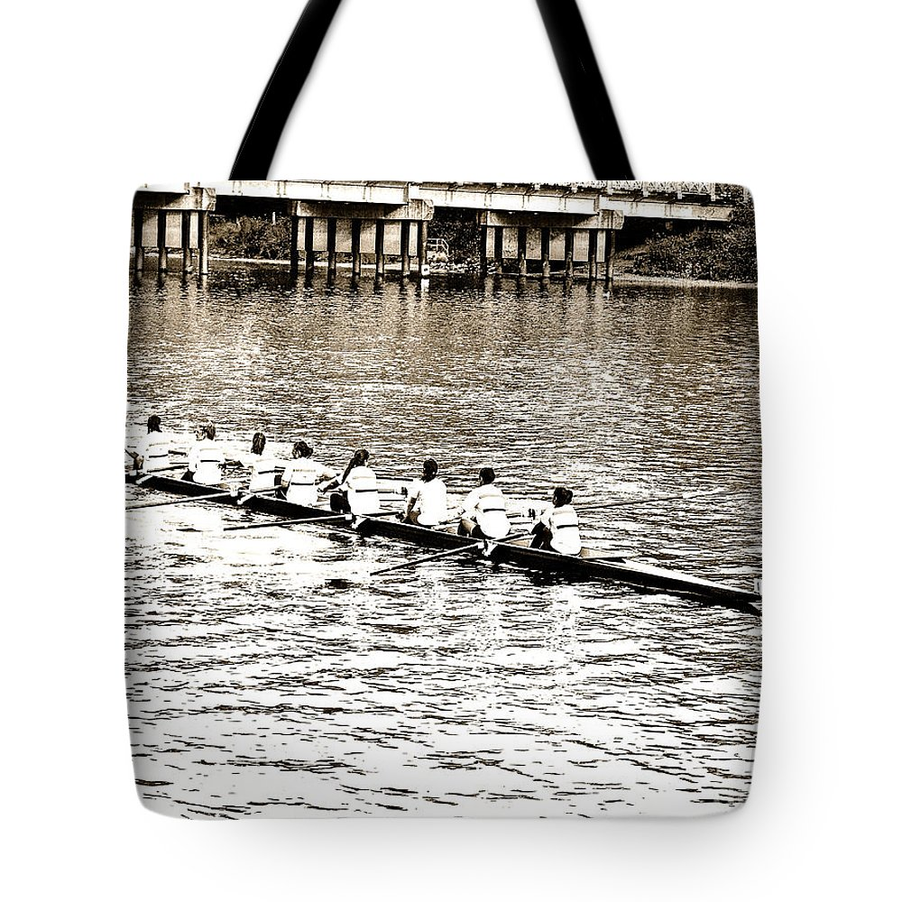 Urban Digital Abstract Tote Bag featuring the photograph A2230058 Regatta by David Fabian