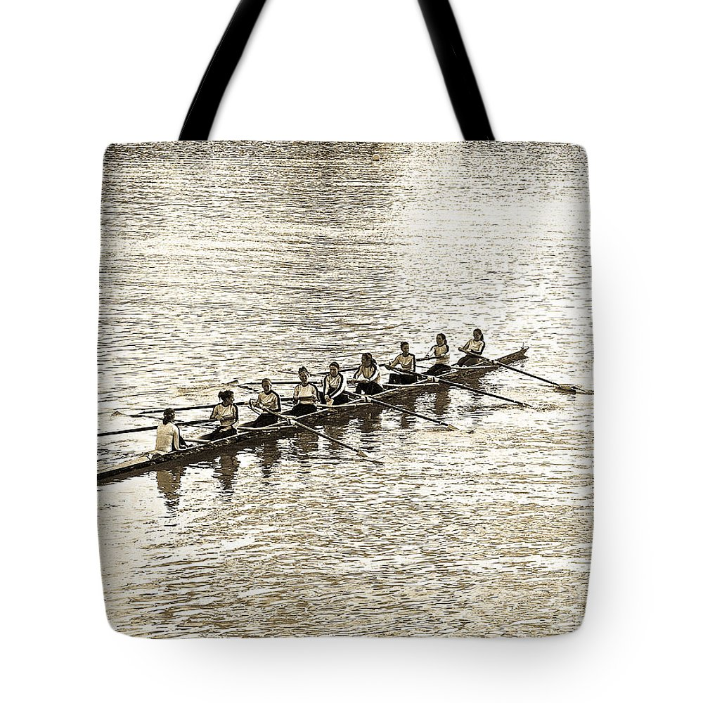 Abstract Tote Bag featuring the photograph A2230192 Regatta by David Fabian