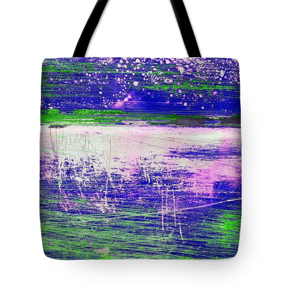 Abstract Tote Bag featuring the mixed media Aa3 1 Paint Textures Abstract Collage by Brian Raggatt