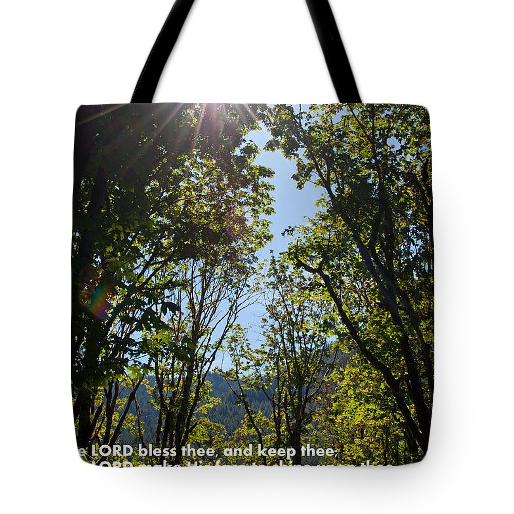 Aaronic Priestly Blessing Tote Bag featuring the photograph Aaronic Priestly Blessing by Tikvah's Hope