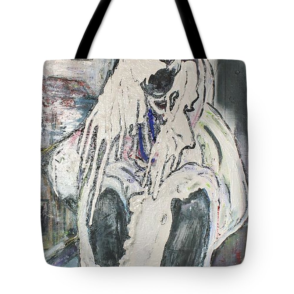 Figurative Tote Bag featuring the painting Aasimah by Peggy Blood