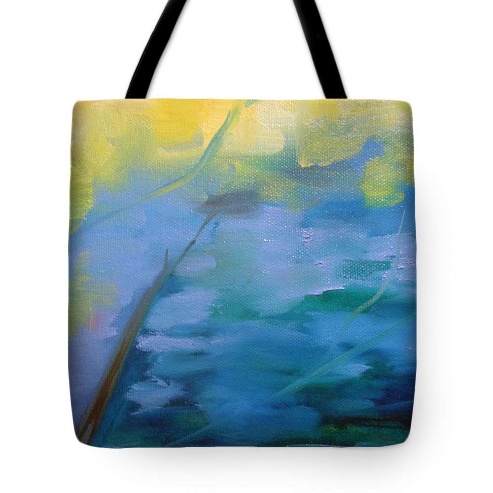 Abstract Tote Bag featuring the painting Aauntumn by Lord Frederick Lyle Morris - Disabled Veteran