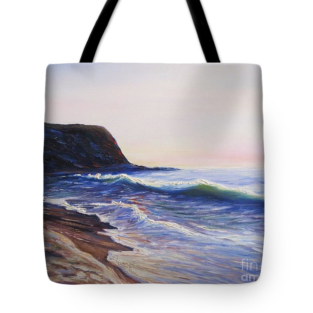 Abalone Cove Tote Bag featuring the painting Abalone Cove by Frederick Luff