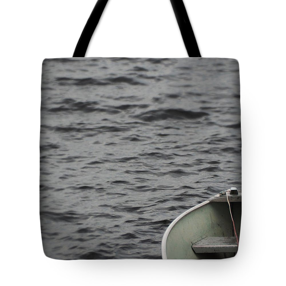 Boat Tote Bag featuring the photograph Abandon Ship by Angie Rea