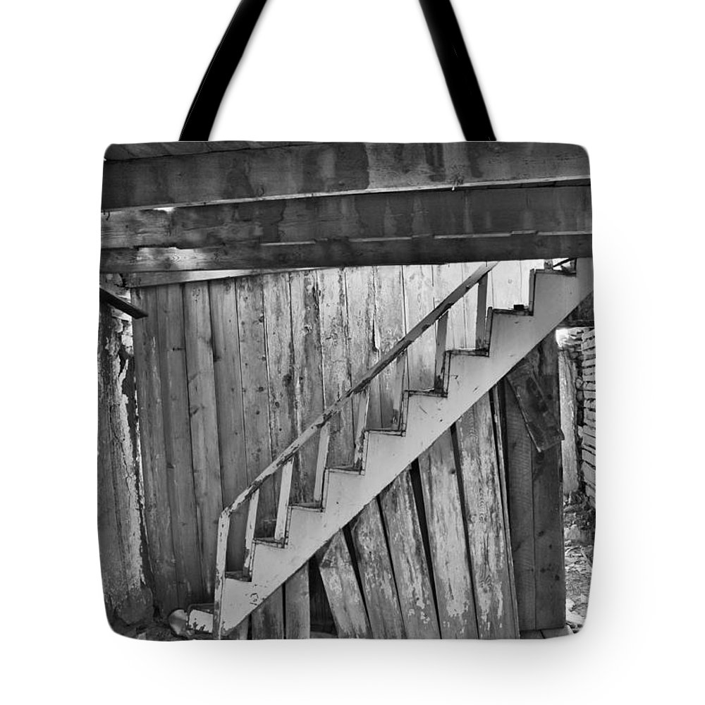 Abandoned Tote Bag featuring the photograph Abandoned by Brady Lane