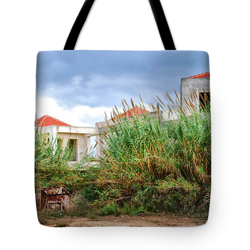 Abandoned Tote Bag featuring the photograph Abandoned Holiday Resort by Antony McAulay