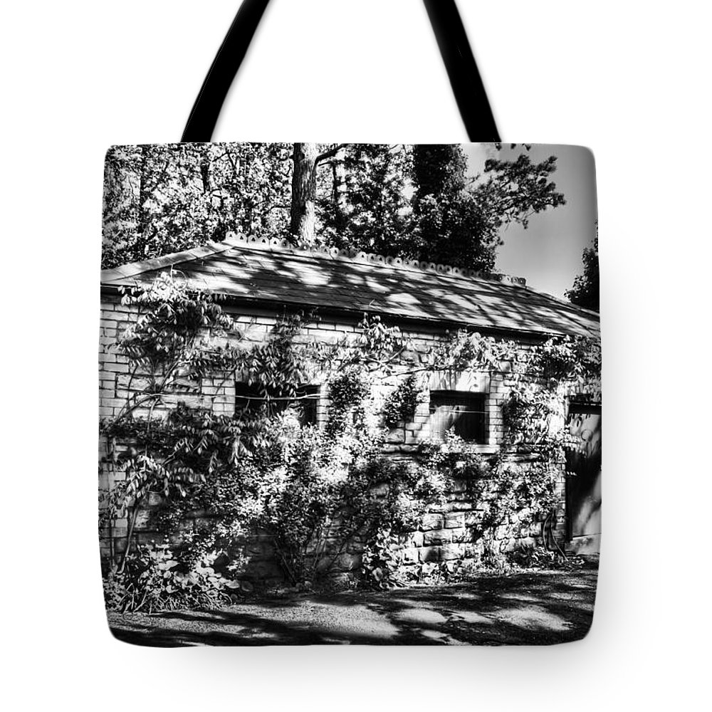 Abandoned Tote Bag featuring the photograph Abandoned Mono by Steve Purnell