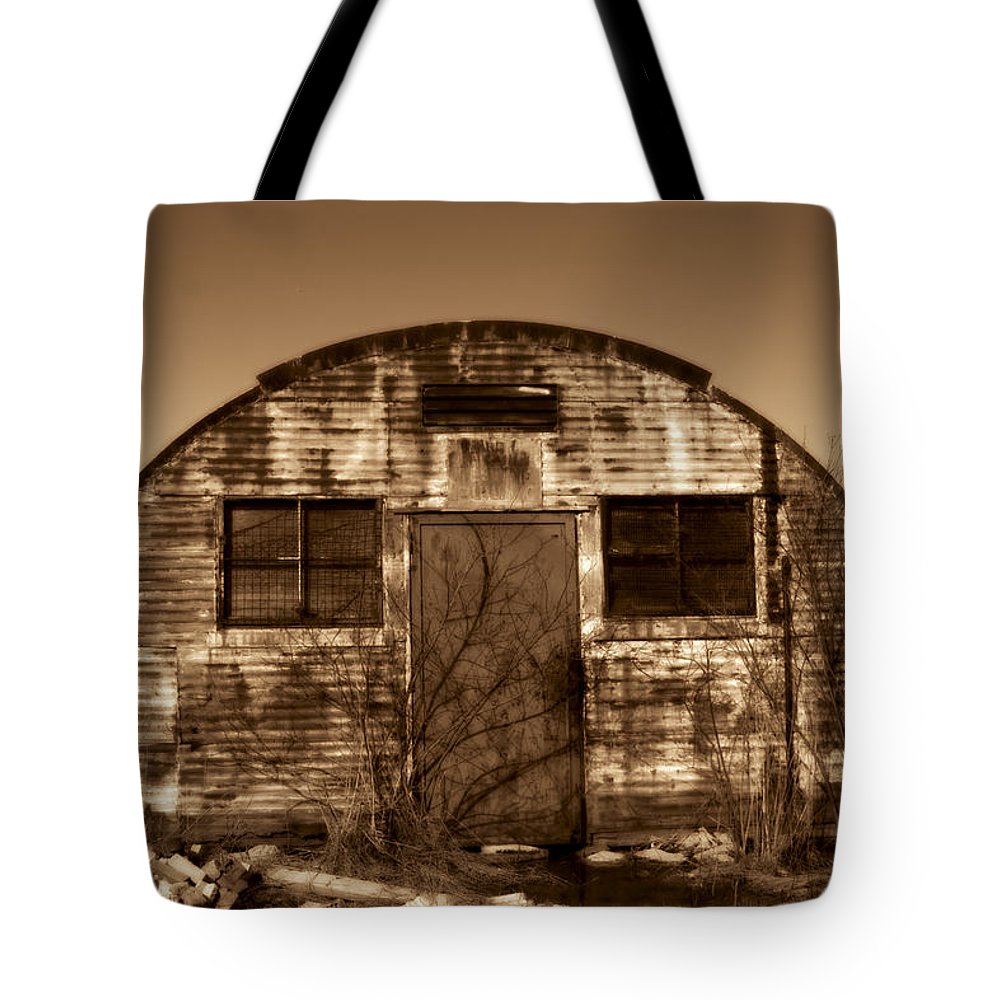 Light Tote Bag featuring the photograph Abandoned Storage Shed by Vast Photography