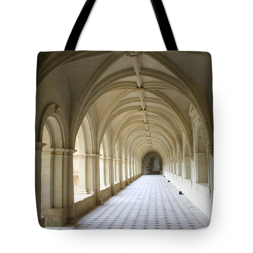 Cloister Tote Bag featuring the photograph Abbaye De Frontevraud Cross Coat by Christiane Schulze Art And Photography