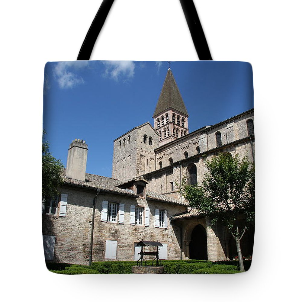 Church Tote Bag featuring the photograph Abbey Church St. Philibert - Tournus by Christiane Schulze Art And Photography