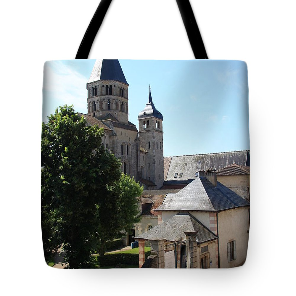 Minster Tote Bag featuring the photograph Abbey Cluny by Christiane Schulze Art And Photography