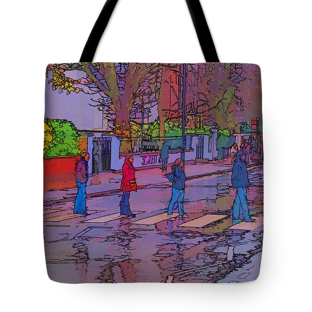 Abbey Road Album Tote Bag featuring the photograph Abbey Road Crossing by Chris Thaxter