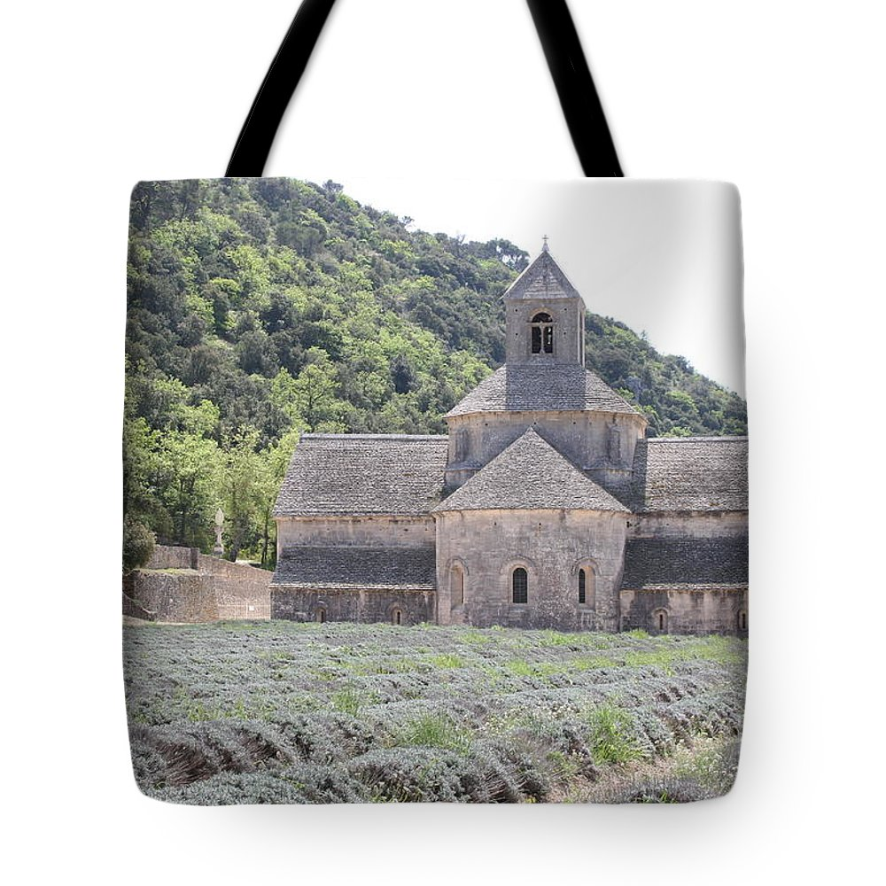 Abbey Tote Bag featuring the photograph Abbey Senanque by Christiane Schulze Art And Photography