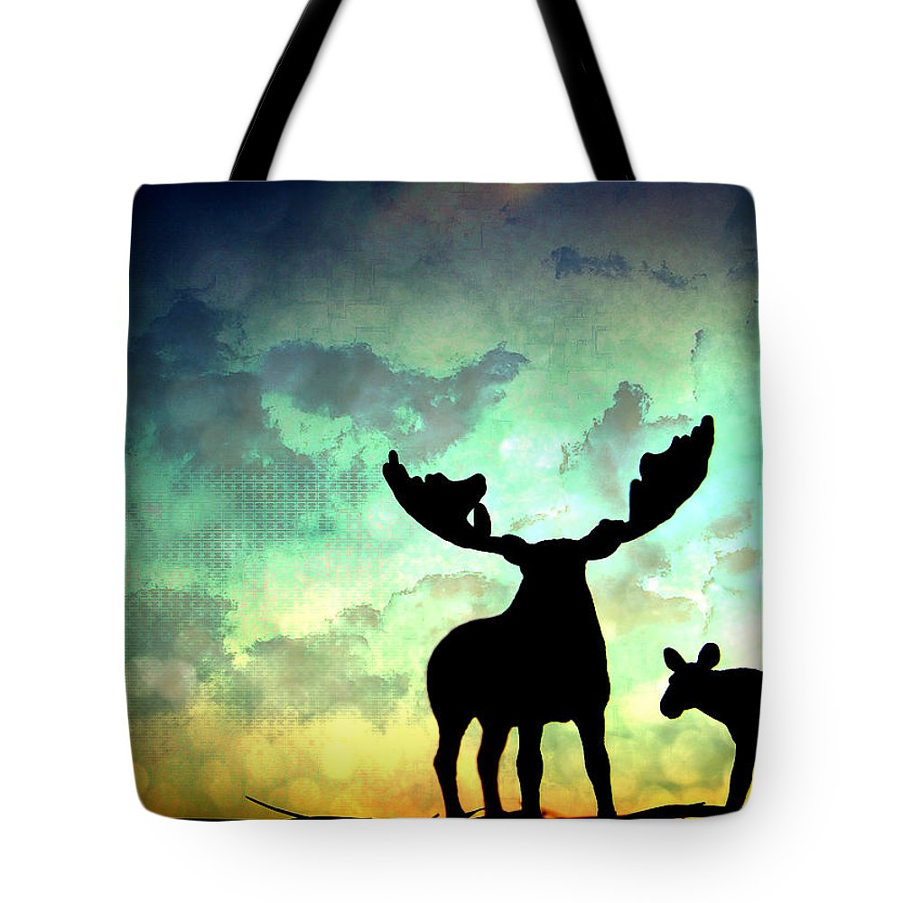 Moose Tote Bag featuring the photograph Ablaze by Georgia Fowler