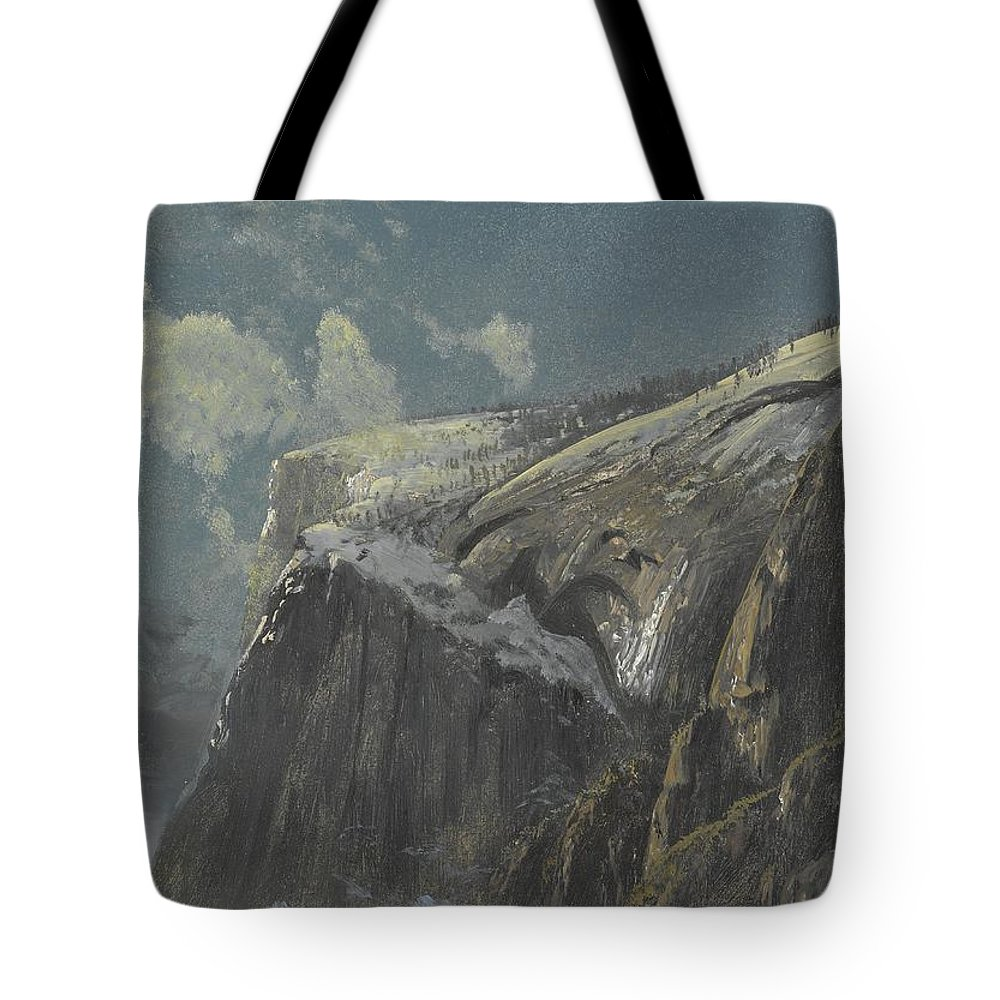 Albert Bierstadt Tote Bag featuring the painting Above The Timberline by Celestial Images