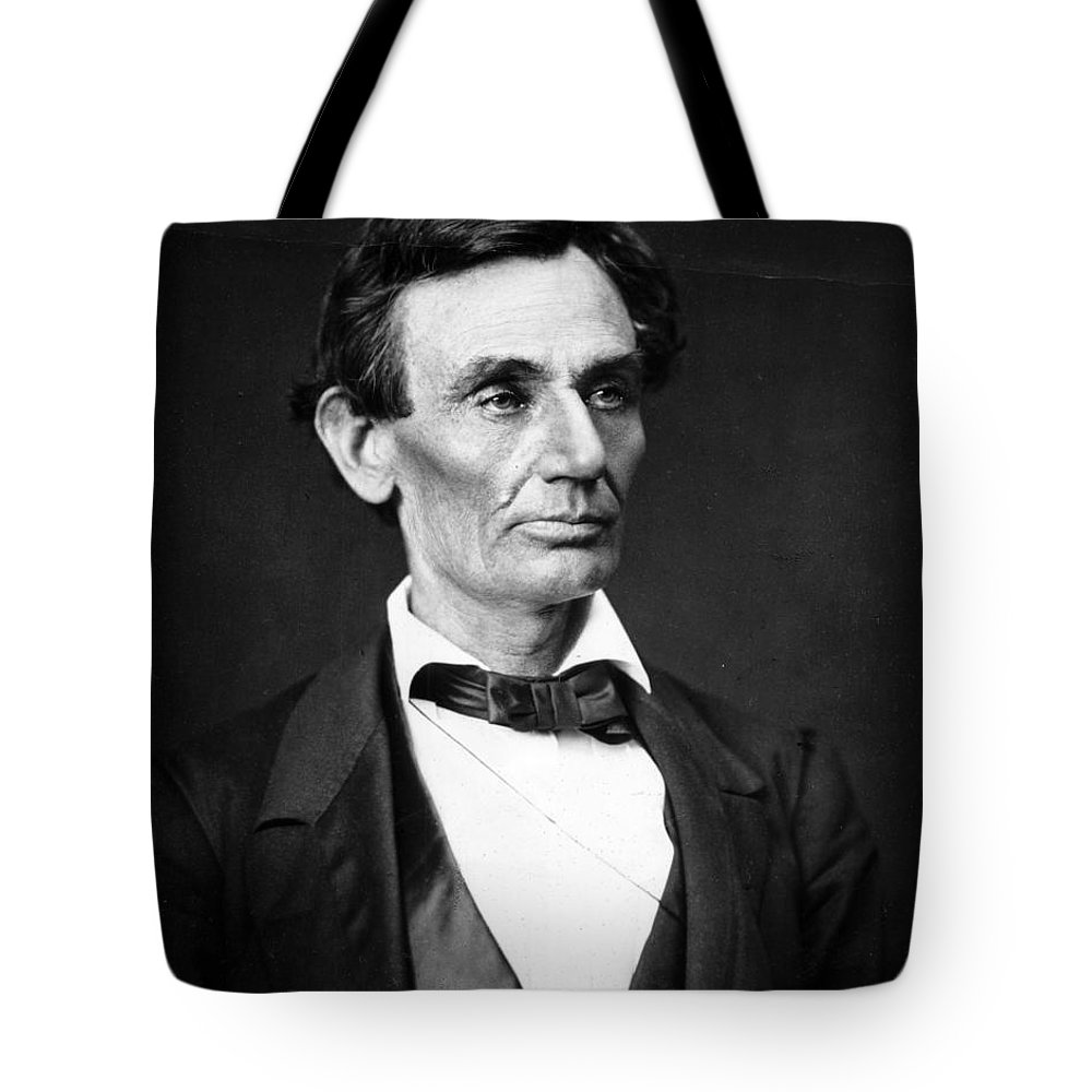Abraham Tote Bag featuring the photograph Abraham Lincoln Portrait by Anonymous