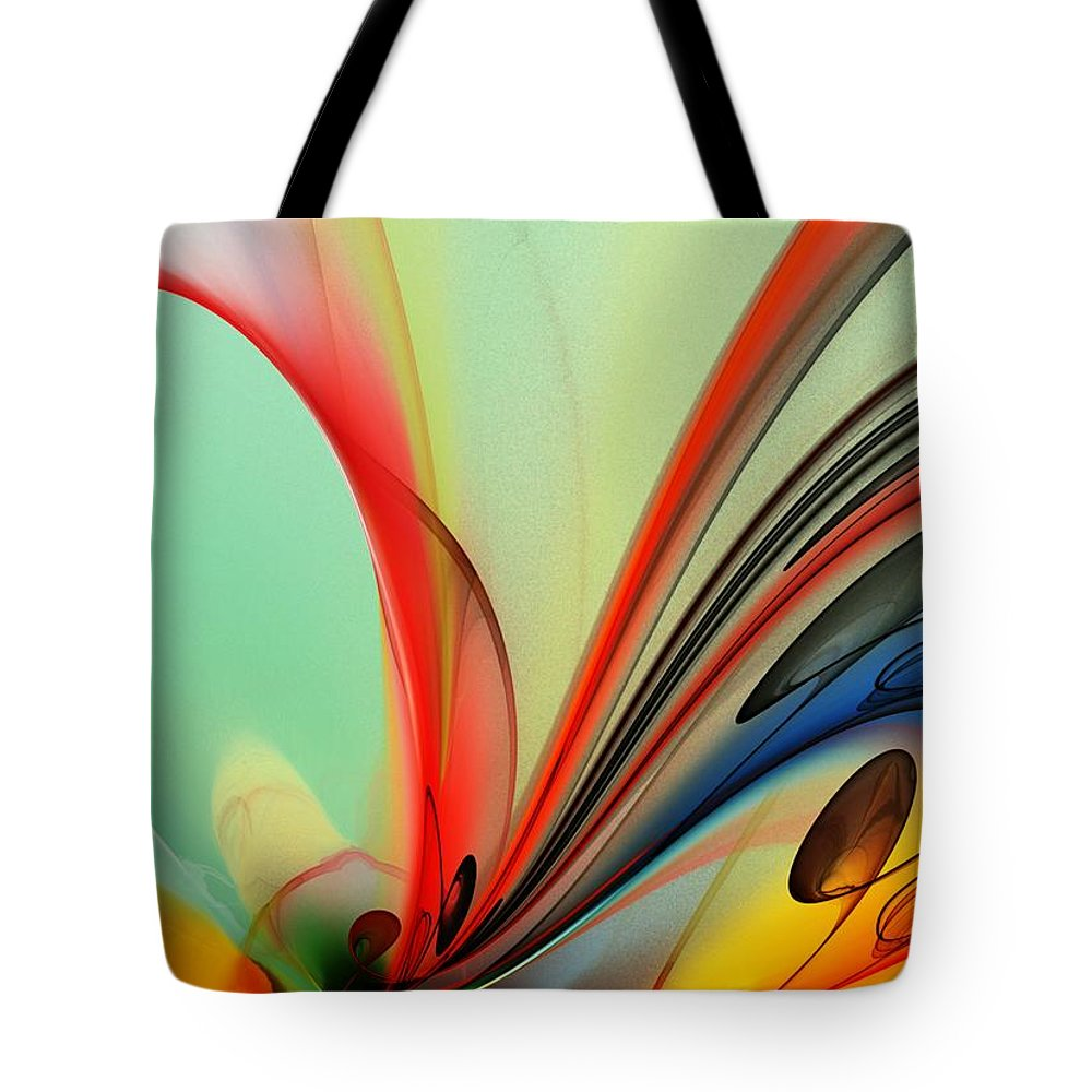 Fine Art Tote Bag featuring the digital art Abstract 040713 by David Lane