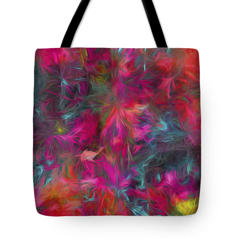 Abstract Tote Bag featuring the digital art Abstract Series 06 by Carlos Diaz