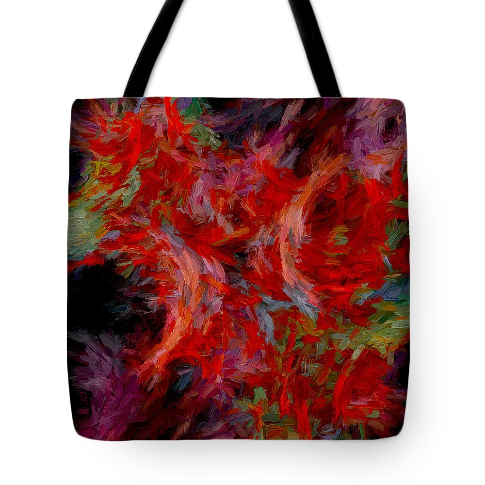 Abstract Tote Bag featuring the digital art Abstract Series 08 by Carlos Diaz