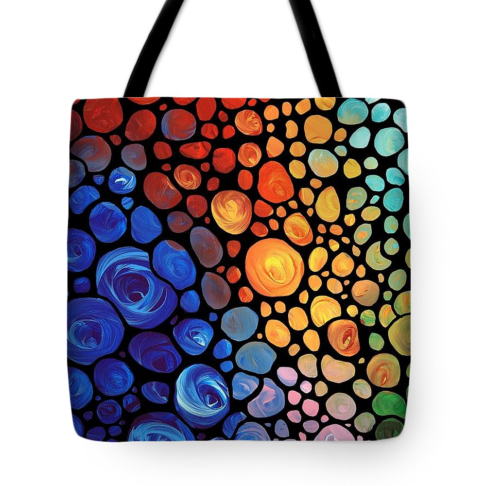 Colored Glass Paintings Tote Bags