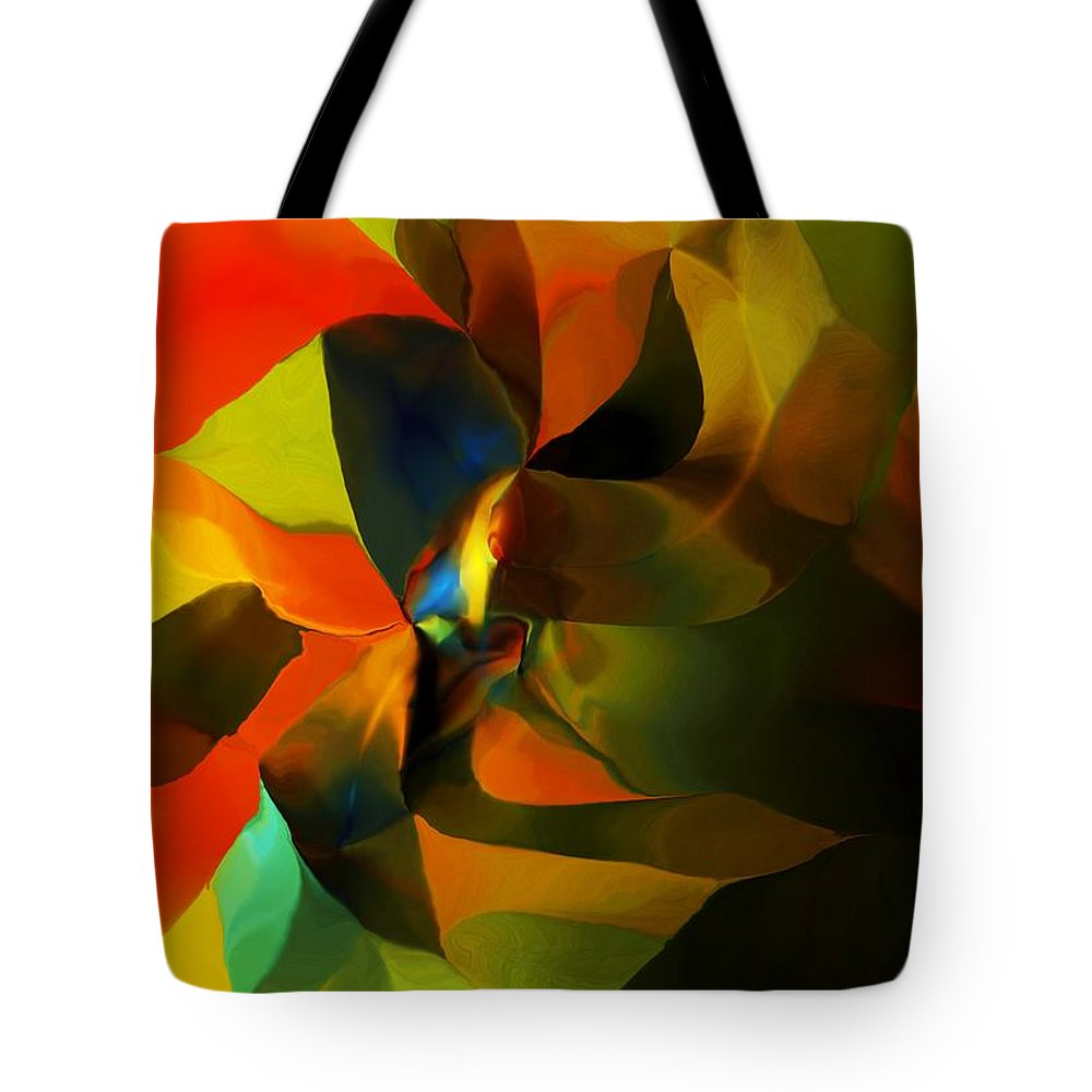 Fine Art Tote Bag featuring the digital art Abstract 120412 by David Lane