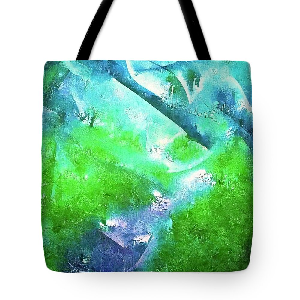 Abstract Tote Bag featuring the photograph Abstract 15 by Pamela Cooper