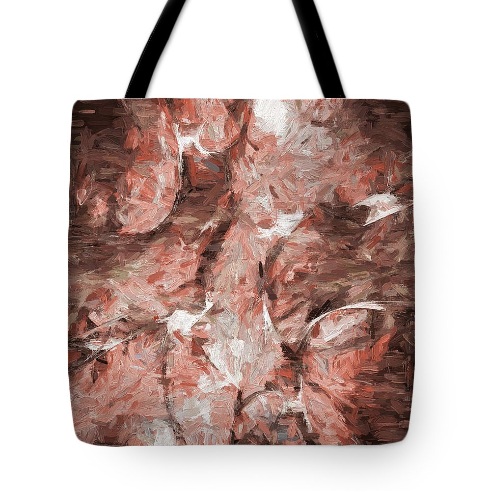 Abstract Tote Bag featuring the digital art Abstract Series16 by Carlos Diaz