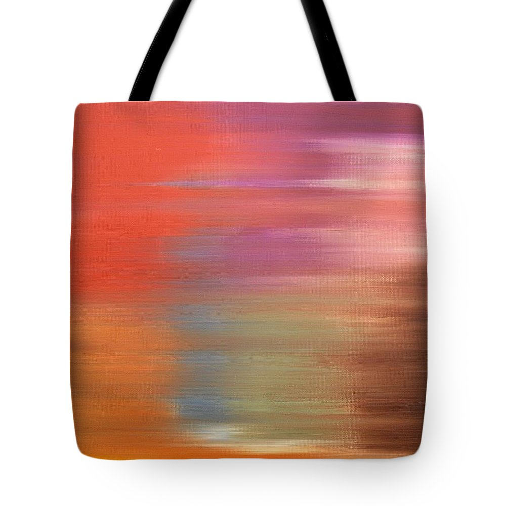Abstract Tote Bag featuring the painting Abstract 261 by Patrick J Murphy
